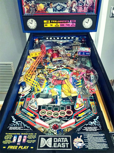 Back To The Future Pinball Machine For Sale Data East 1990