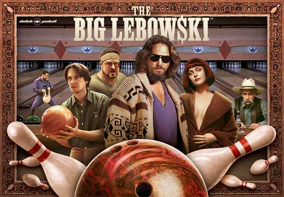 Big Lebowski Pinball Machine For Sale by Dutch Pinball