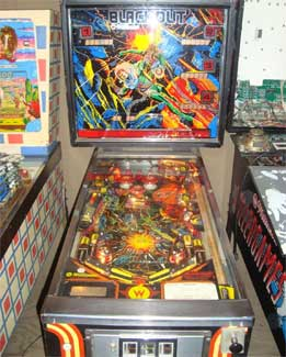 Blackout Pinball Machine For Sale Used Cheap Williams 1980