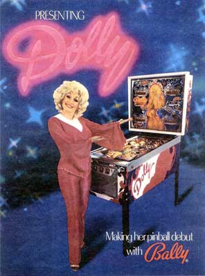 Dolly Parton Pinball Machine For Sale Bally 1978 Flyer Ad