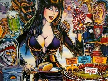 Elvira and the Party Monsters Pinball Machine