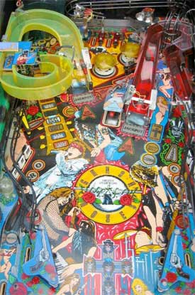 Guns N Roses Pinball Machine For Sale Used by Data East
