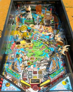 Jurassic Park Pinball Machine For Sale Used by Data East