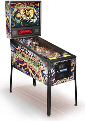 Metallica Pro Pinball Machine For Sale Roadcase Monster Stern