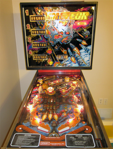 Meteor Pinball Machine For Sale Stern Used 1979