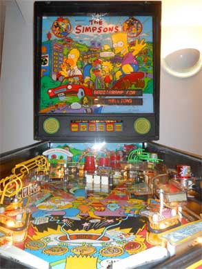 Simpsons Pinball Machine For Sale Data East 1990 Cheap