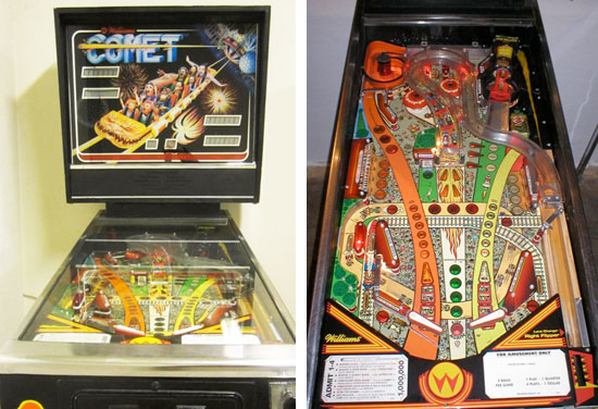 Comet Pinball Machine For Sale Williams