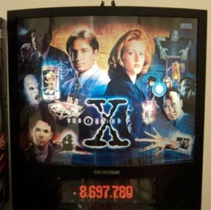 David Duchovny and Gillian Anderson Pinball X Files